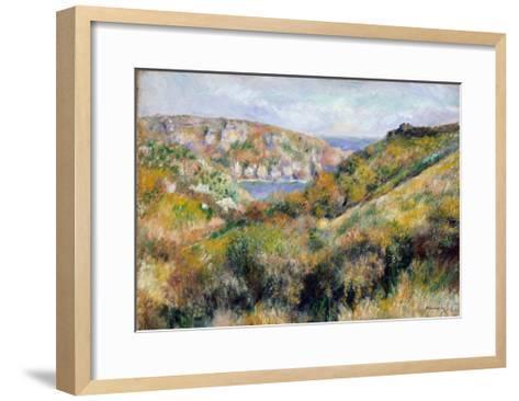 Hills Around the Bay of Moulin Huet, Guernsey, 1883-Pierre-Auguste Renoir-Framed Art Print