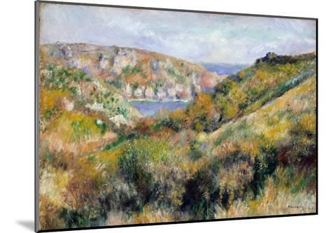 Hills Around the Bay of Moulin Huet, Guernsey, 1883-Pierre-Auguste Renoir-Mounted Giclee Print