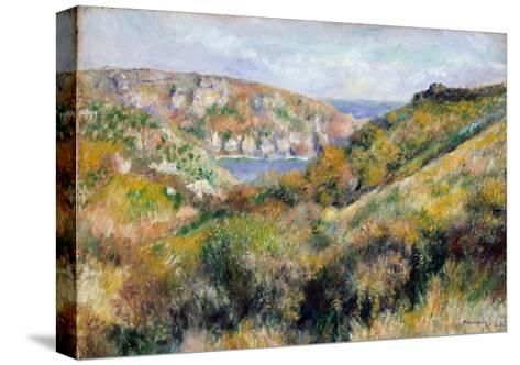 Hills Around the Bay of Moulin Huet, Guernsey, 1883-Pierre-Auguste Renoir-Stretched Canvas Print