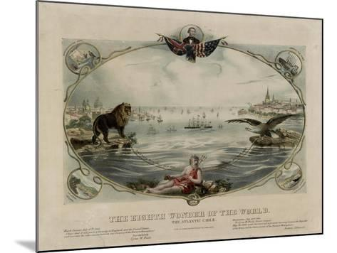 The Eighth Wonder of the World, Atlantic cable, 1866--Mounted Giclee Print