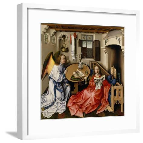 Annunciation Triptych (Merode Altarpiece), c.1427-32-Master of Flemalle-Framed Art Print