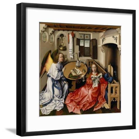 Annunciation Triptych (Merode Altarpiece), c.1427-32-Master of Flemalle-Framed Art Print