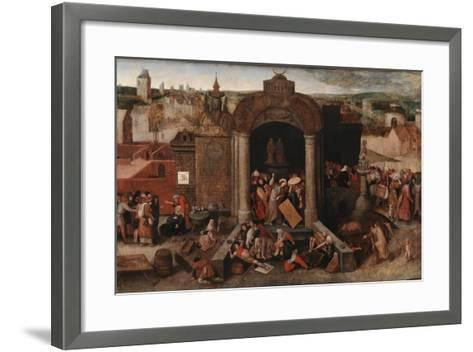 Christ Driving the Traders from the Temple, c.1570-5-Hieronymus Bosch-Framed Art Print