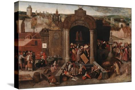 Christ Driving the Traders from the Temple, c.1570-5-Hieronymus Bosch-Stretched Canvas Print