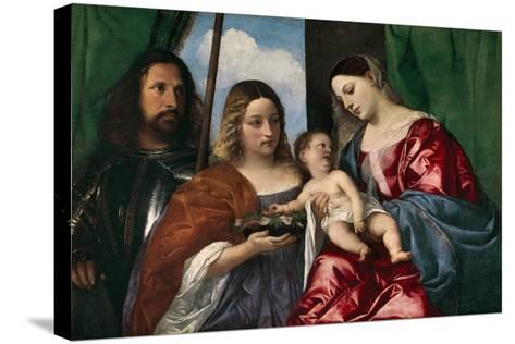 The Virgin and Child with Saint Dorothy and Saint George, 1515-18-Titian-Stretched Canvas Print