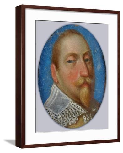 Miniature of Gustav II Adolf, King of Sweden, c.1630-Unknown Artist-Framed Art Print