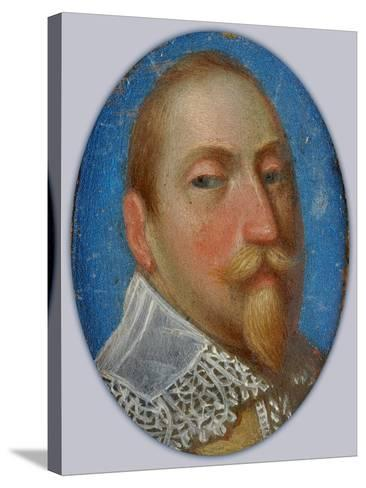 Miniature of Gustav II Adolf, King of Sweden, c.1630-Unknown Artist-Stretched Canvas Print