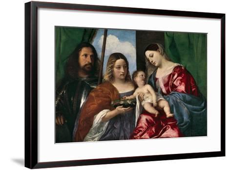 The Virgin and Child with Saint Dorothy and Saint George, 1515-18-Titian-Framed Art Print