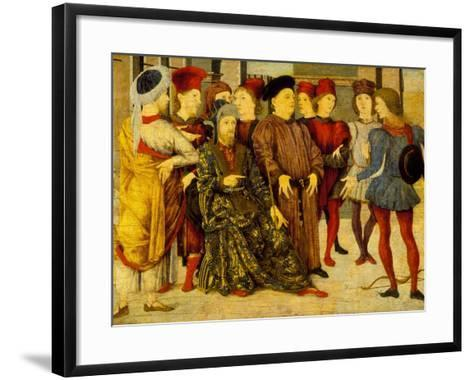 Fragment from a Cassone Panel 'Shooting at Father's Corpse', c.1462-Marco Zoppo-Framed Art Print
