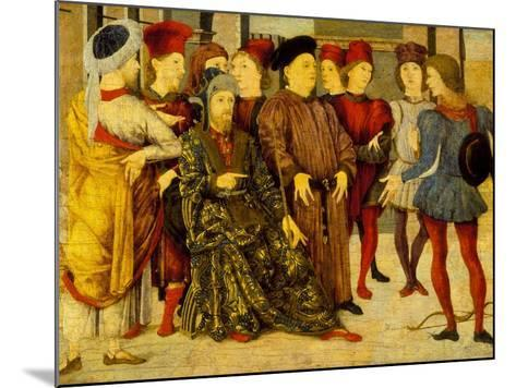 Fragment from a Cassone Panel 'Shooting at Father's Corpse', c.1462-Marco Zoppo-Mounted Giclee Print