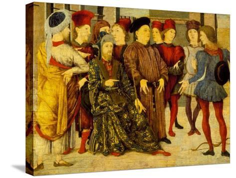 Fragment from a Cassone Panel 'Shooting at Father's Corpse', c.1462-Marco Zoppo-Stretched Canvas Print