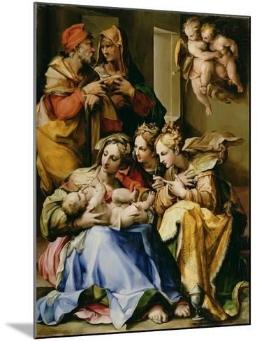 Holy Family with Saints Anne, Catherine of Alexandria, and Mary Magdalene, c.1560-9-Nosadella-Mounted Giclee Print