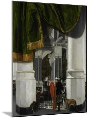 Interior of the Nieuwe Kerk in Delft with the Tomb of William the Silent, 1653-Emanuel de Witte-Mounted Giclee Print