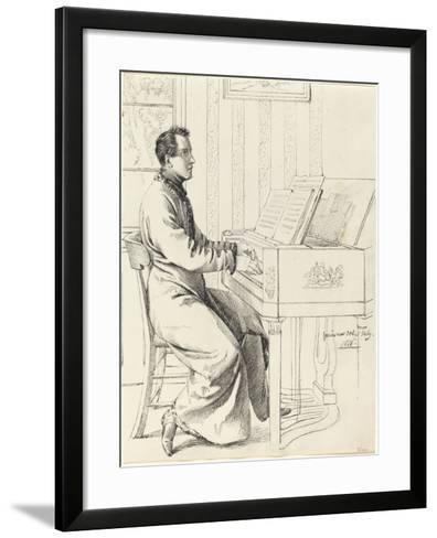 Grimm, Ludwig Emil German, 1790 - 1863 Artist's Brother-in-Law, Ludwig Hassenpflu & Piano, 1826-Ludwig Emil Grimm-Framed Art Print
