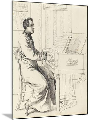 Grimm, Ludwig Emil German, 1790 - 1863 Artist's Brother-in-Law, Ludwig Hassenpflu & Piano, 1826-Ludwig Emil Grimm-Mounted Giclee Print