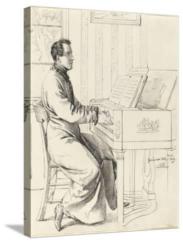 Grimm, Ludwig Emil German, 1790 - 1863 Artist's Brother-in-Law, Ludwig Hassenpflu & Piano, 1826-Ludwig Emil Grimm-Stretched Canvas Print