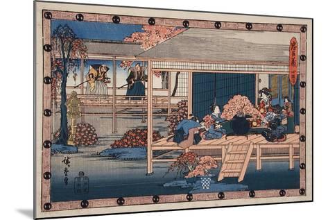 Envoys from Shogun Approach Lady Kaoyo, Enya's Castle, Bringing Sentence of Death to Enya, c.1835-9-Ando or Utagawa Hiroshige-Mounted Giclee Print