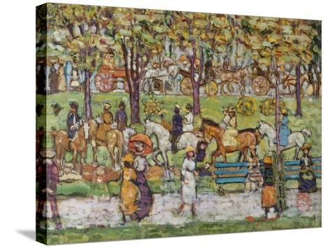 Central Park, c.1914-15-Maurice Brazil Prendergast-Stretched Canvas Print