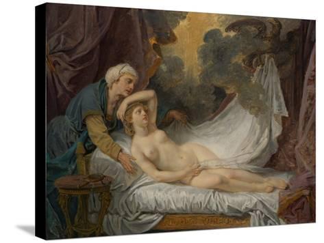 Aegina visited by Jupiter, c.1767-69-Jean Baptiste Greuze-Stretched Canvas Print