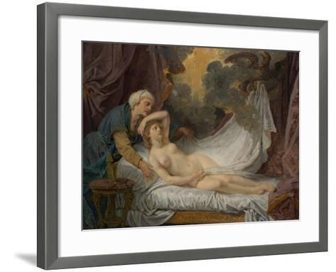 Aegina visited by Jupiter, c.1767-69-Jean Baptiste Greuze-Framed Art Print