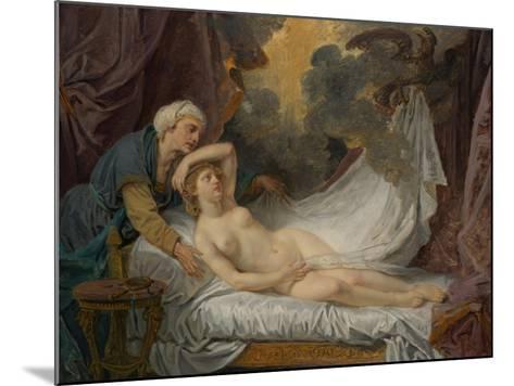 Aegina visited by Jupiter, c.1767-69-Jean Baptiste Greuze-Mounted Giclee Print