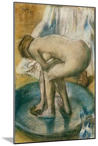 Woman Bathing in a Shallow Tub, 1885-Edgar Degas-Mounted Giclee Print