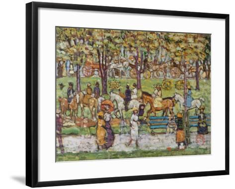 Central Park, c.1914-15-Maurice Brazil Prendergast-Framed Art Print