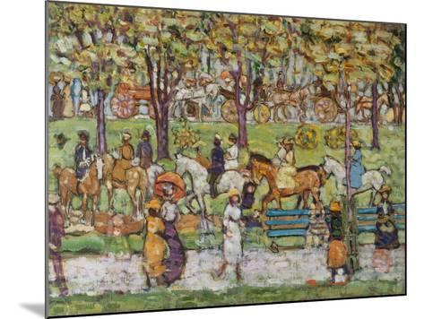 Central Park, c.1914-15-Maurice Brazil Prendergast-Mounted Giclee Print