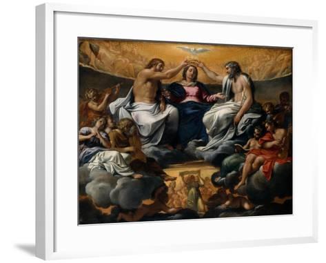 The Coronation of the Virgin, c.1595-Annibale Carracci-Framed Art Print
