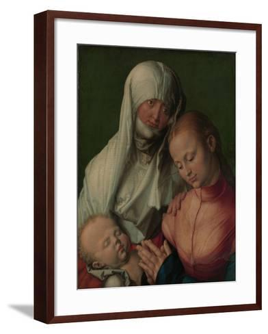 Virgin and Child with Saint Anne, c.1519-Albrecht D?rer or Duerer-Framed Art Print