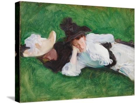 Two Girls on a Lawn, 1889-John Singer Sargent-Stretched Canvas Print
