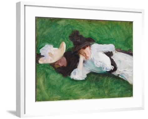 Two Girls on a Lawn, 1889-John Singer Sargent-Framed Art Print