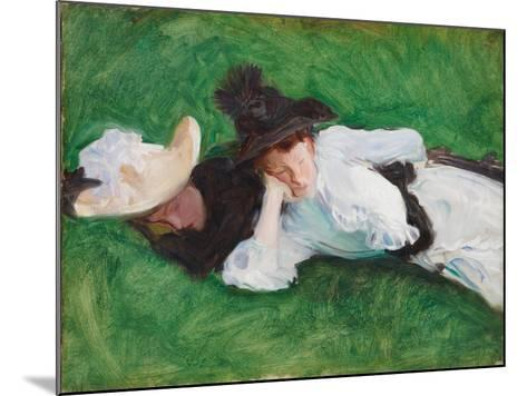 Two Girls on a Lawn, 1889-John Singer Sargent-Mounted Giclee Print