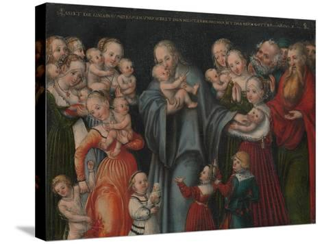 Christ Blessing the Children, c.1545-50-Lucas the Younger Cranach-Stretched Canvas Print