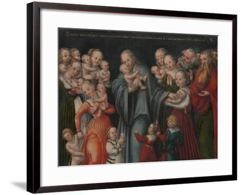 Christ Blessing the Children, c.1545-50-Lucas the Younger Cranach-Framed Art Print
