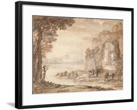 Perseus and the Origin of Coral, c.1671-Claude Lorraine-Framed Art Print