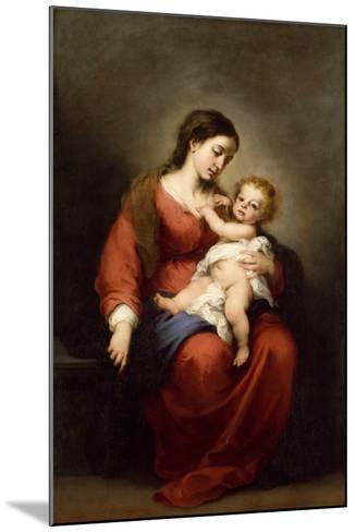 Virgin and Child, c.1670-72-Bartolome Esteban Murillo-Mounted Giclee Print