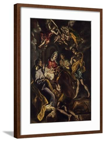 The Adoration of the Shepherds, c.1612-14-El Greco-Framed Art Print