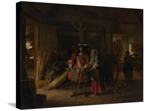 Paying the Hostess, c.1670-Pieter de Hooch-Stretched Canvas Print