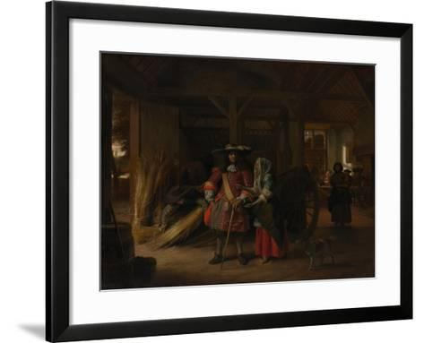Paying the Hostess, c.1670-Pieter de Hooch-Framed Art Print