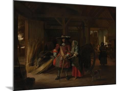 Paying the Hostess, c.1670-Pieter de Hooch-Mounted Giclee Print