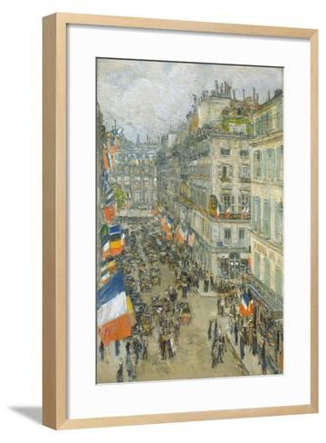 July Fourteenth, Rue Daunou, 1910-Childe Hassam-Framed Art Print