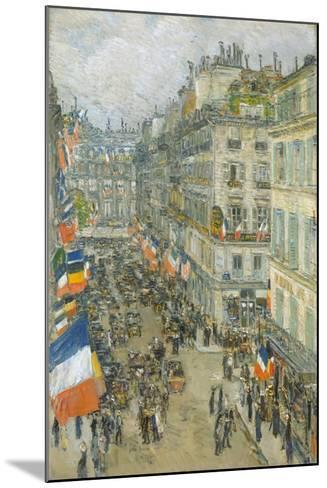 July Fourteenth, Rue Daunou, 1910-Childe Hassam-Mounted Giclee Print