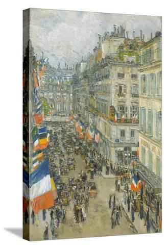 July Fourteenth, Rue Daunou, 1910-Childe Hassam-Stretched Canvas Print