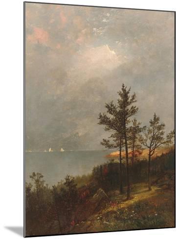 Gathering Storm on Long Island Sound, 1872-John Frederick Kensett-Mounted Giclee Print