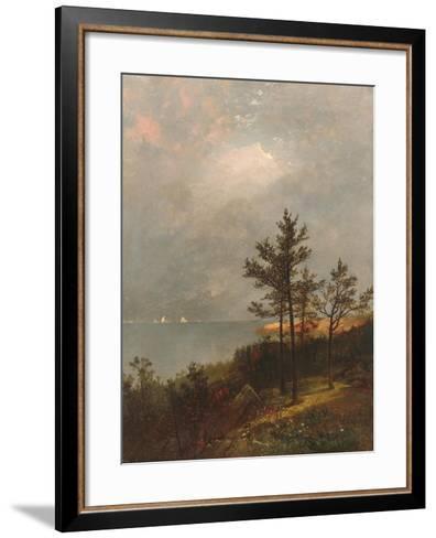 Gathering Storm on Long Island Sound, 1872-John Frederick Kensett-Framed Art Print