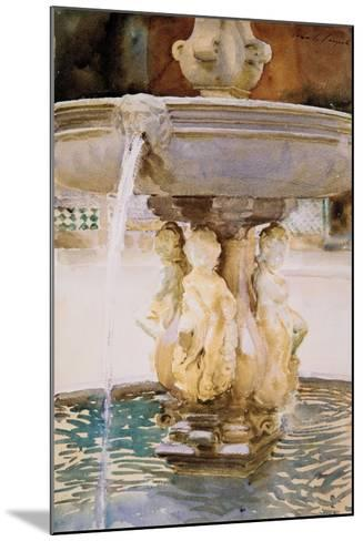 Spanish Fountain, 1912-John Singer Sargent-Mounted Giclee Print
