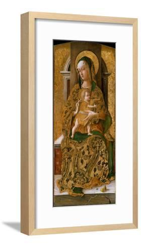 Madonna and Child Enthroned, 1472-Carlo Crivelli-Framed Art Print
