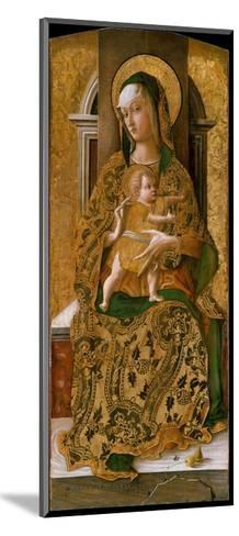 Madonna and Child Enthroned, 1472-Carlo Crivelli-Mounted Giclee Print