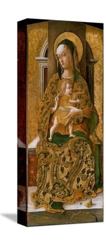 Madonna and Child Enthroned, 1472-Carlo Crivelli-Stretched Canvas Print